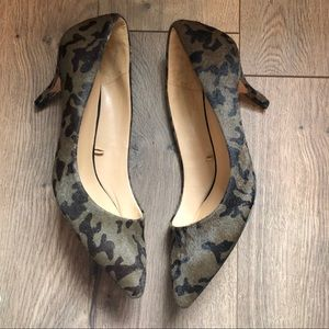 Zara Basic 9/39 Camo Kitten Heels